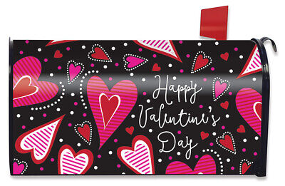$16.99 • Buy Dancing Hearts Valentine's Day Magnetic Mailbox Cover Primitive Standard