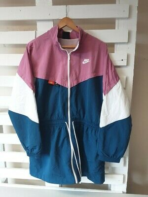 £9.99 • Buy Ladies Nike USA Pink Green Shell Suit Jacket Sz L NEW Loose Fit