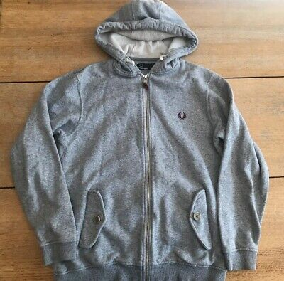 £8.50 • Buy Fred Perry Youth Large Grey Zip Up Hoodie Top