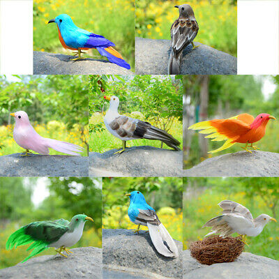 $7.58 • Buy Christmas Artificial Feathered Magpie Miniature Birds Tree Hanging Craft