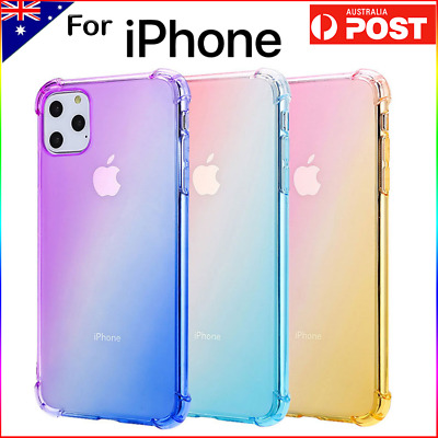 AU6.79 • Buy Gradient Clear Heavy Duty Case Cover For IPhone 7 8 Plus X XS XR 11 12 Pro Max