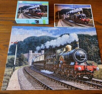 £6.09 • Buy Otter House Making Steam 1000 Piece Jigsaw Stuart Booth Steam Train Puzzle V909