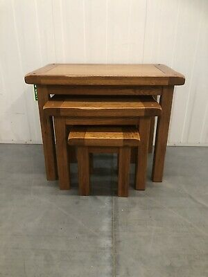 £125 • Buy Oak Furniture Land Nest Of Tables Delivery Available 🚚