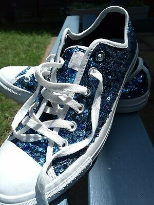 £25 • Buy Converse Mermaid Sequin Trainers Size 7.
