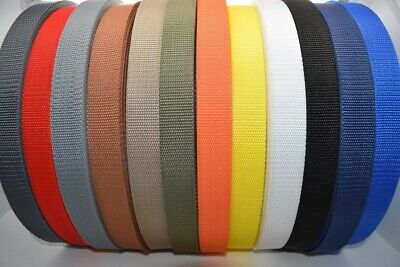 £5.47 • Buy Choice Of Colours Polypropylene Webbing Tape/Strap 20mm-25mm-30mm-40mm-50mm