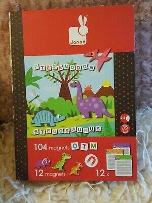 £3.50 • Buy Janod Magnetic Letters, Dinosaurs & Information Cards With Board Interactive Toy