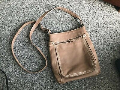 £5 • Buy REAL LEATHER Ladies Beige LLOYD BAKER Bag Long Adjustable Strap Exc Condition