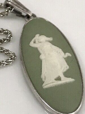 £12.99 • Buy 925 Sterling Silver Necklace With Wedgwood Pendant,18 Inches