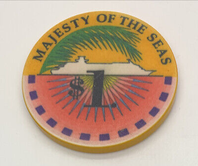 $5.99 • Buy Majesty Of The Seas $1 Casino Chip - Royal Caribbean Wet Cruise Chip
