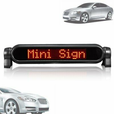 £23.31 • Buy Red Digital LED Car Programmable Message Sign Moving Scrolling Display Board