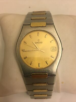$650 • Buy Mens Concord Mariner 18k Gold Stainless Watch 15.78.213