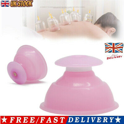 £5.38 • Buy Silicone Massage Vacuum Body Facial Cup Anti Cellulite Cupping UK Anti Ageing UK