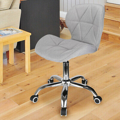£29.99 • Buy Cushioned Computer Desk Office Chair Chrome Legs Lift Swivel Small Adjustable