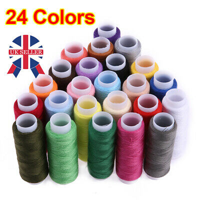 £3.99 • Buy 24 Spools Color Quality Sewing All Purpose Strong Polyester Cotton Thread Reel M