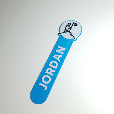 £3.50 • Buy Personalised Goal Icon Bookmark Party Bag Filler Gift Under 5 Reading Time