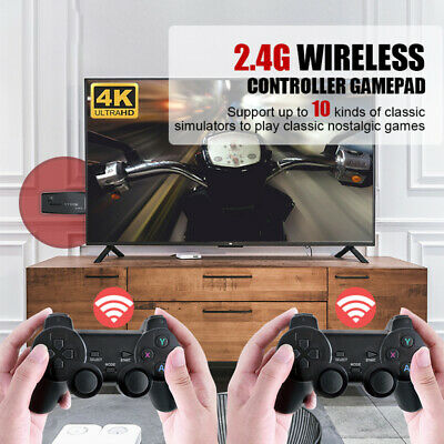 £39.70 • Buy Wireless HDMI 4K TV Game Stick Console 10000+Built-in Games+2 Retro Gamepad NEW~