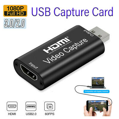 £7.56 • Buy HDMI To USB 3.0 2.0 Audio Video Capture Card Live Streaming /Game Recording Box