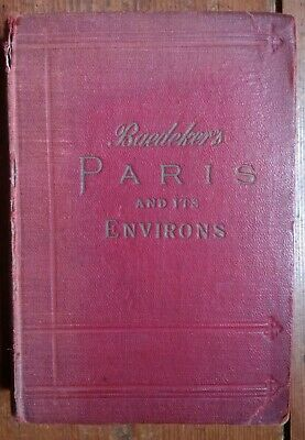 £7 • Buy Baedeker's Handbook Paris & Environs With Routes From London 1913 + Maps & Plans