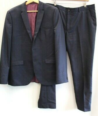 £4.99 • Buy Mens TAYLOR & WRIGHT Blue Slim Suit Jacket 42L & Trousers W38 L33 Preloved - C06