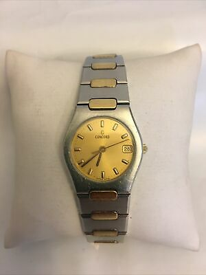 $350 • Buy Mens Concord Mariner 18k Gold Stainless Watch 15.57. 263