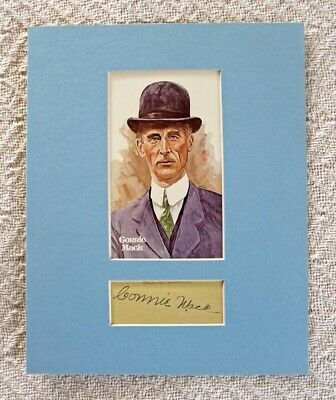 $39.99 • Buy CONNIE MACK PHILADELPHIA A's SIGNED AUTOGRAPHED MATTED DISPLAY W/HOF POSTCARD #9