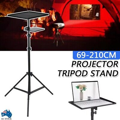 AU46.99 • Buy 69-210cm Aluminium Projector Tripod Stand For Laptop With Tray Height Adjustable