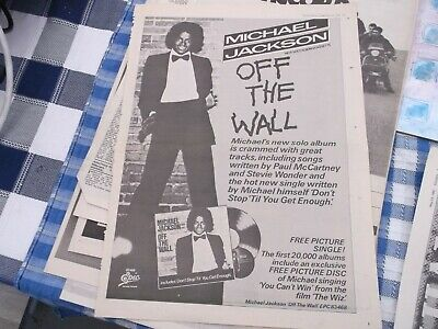 £5.50 • Buy Michael Jackson Off The Wall  Album   Release Poster 1979 Framing