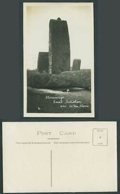 £5.99 • Buy Stonehenge Great Trilithon And Altar Stone Old Real Photo Postcard Wiltshire 6.
