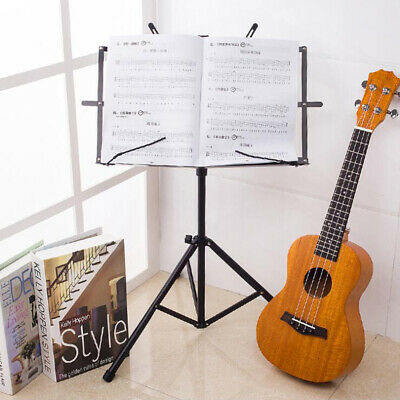 £0.99 • Buy Adjustable Height Tripod Music Book Stand Sheet Holder Base Foldable & Carry Bag
