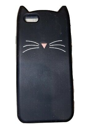£0.99 • Buy Iphone 6 Black Cat Patterned Case With Cat Ears