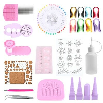 £14.06 • Buy DIY Quilling Paper Craft Rolling Kit Slotted Tools Strips Tweezer For Decoration