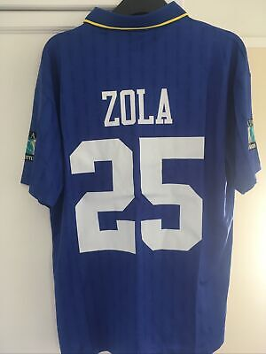 £59.99 • Buy Chelsea Shirt Retro Shirt Gianfranco Zola Size M To Large Fa Cup Patches