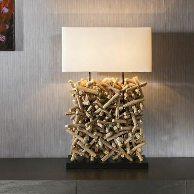 £369 • Buy Beautiful Unique Modern Driftwood Table Lamp / Light White Shade Seoul
