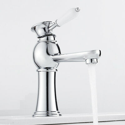 £30.49 • Buy Traditional  Bathroom Basin Mixer Taps Tall Counter Top Brass Faucet Tap ChromeF