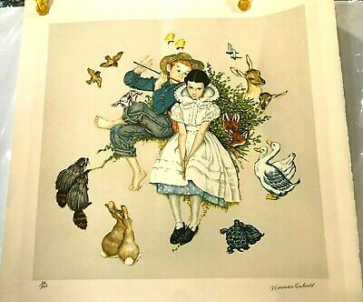 $ CDN1247.63 • Buy Norman Rockwell Four Ages Of Love  Spring   # 30 Out Of 200--signed-lowest Price