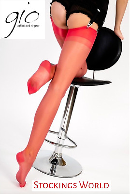 £9.85 • Buy GIO RHT Stockings / Nylons -  RED - Imperfects FREE DELIVERY NEW!