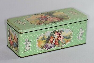 £9.99 • Buy Vintage W&R Jacob & Co. Biscuit Tin 'Cameo'