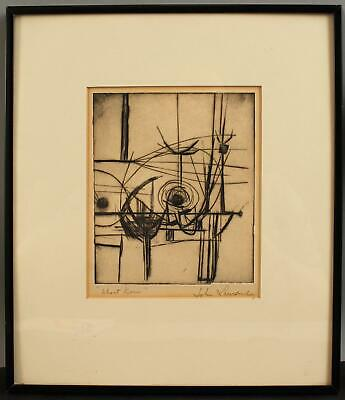 £7.55 • Buy Pencil Signed JOHN LAURENT Mid-Century Modern Abstract Etching, NO RESERVE