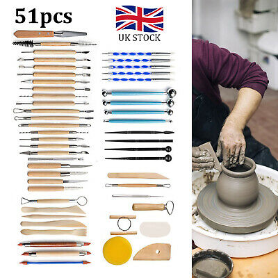 £10.99 • Buy 51pc Ceramics Clay Sculpture Polymer  Carved Craft Sculpting Pottery Tool Kit