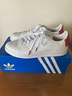 AU47.50 • Buy Adidas Stan Smith Iconic Trainers, Women's US SIZE 8, White/Red, Leather Upper.
