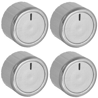 £7.49 • Buy Oven Knobs For AEG TRICITY BENDIX Control Dial + Adaptors Cooker Hob Silver X 4