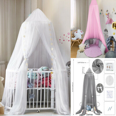 £20.56 • Buy Canopy Kids Mosquito Net Bedcover Baby Bed Curtain Bedding Dome Tent Cotton UK B