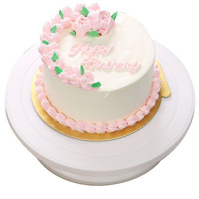 £5.59 • Buy Rotating Cake Icing Deocrating Revolving Kitchen Display Stand Turntable 28cm