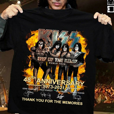 $17.99 • Buy Kiss 48th Anniversary 2021 T-Shirt Funny Cotton Tee Vintage Gift For Men Women