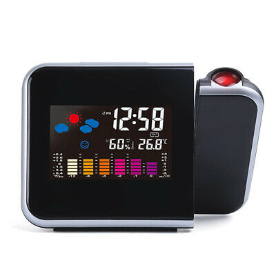 £14.09 • Buy Wall Digital  Projection Screen Alarm Clock Snooze Calendar Thermometer Weather