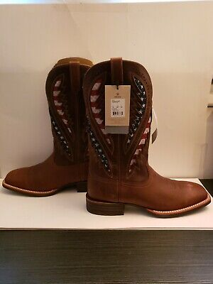 $51 • Buy Ariat Mens Quickdraw VentTEK Distressed Brown Wide Square Boots Size 13