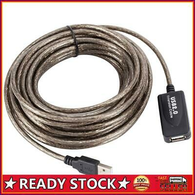 AU16.94 • Buy 33ft USB 2.0 Extension Repeater Cable Signal Booster A Male To A Female