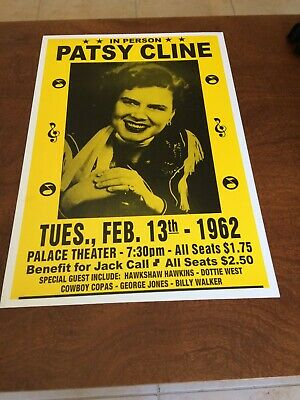 $11.99 • Buy Patsy Cline, Country & Western, Feb13, 1962 14X22 Concert Poster , Color,