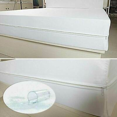 £16.50 • Buy Zipped Mattress Pads Cover Waterproof Bedding Sheet Protector Fitted Bed Sheet
