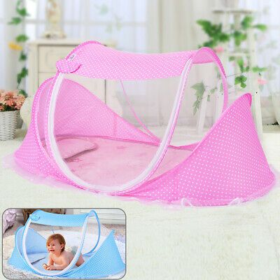£9.99 • Buy Baby Foldable Mosquito Net Canopy Bed Summer Camping Travel Cot Tent Crib Pillow